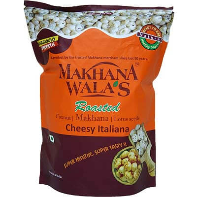 Roasted Cheesy Italiana Makhana Lotus Seeds Foxnut