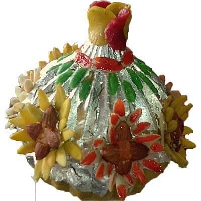 Big Decorated 1.25kg Kaju Modak