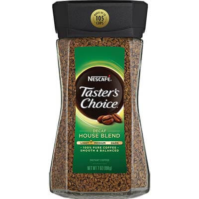 NESCAFE Tasters Choice House Blend Decaf Instant Coffee